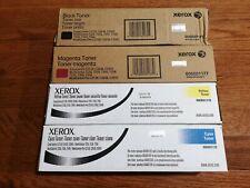 Set of New OEM Xerox Toner Cartridges CMYK CopyCentre C2128 WC7228 WC Pro C3545