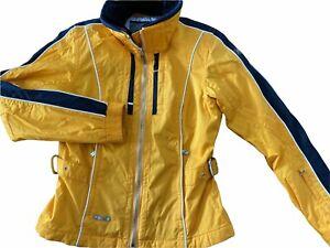 Spyder XLT Thinsulate LiteLoft Yellow & Black Ski Snow Jacket Womens Size 6