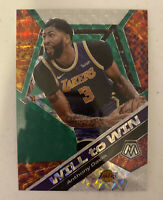 2019-20 Panini Mosaic Will To Win Green Prizm #6 Anthony Davis Lakers