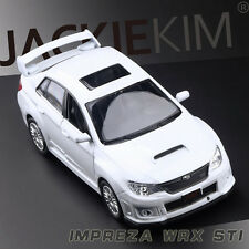 "White 1:36 Subaru WRX STI Diecast Model Rally Racing Car By YuFeng 1/36 5"""