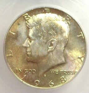 1968-D KENNEDY SILVER 50 CENTS ICG MS 66+ LISTS FOR $140!