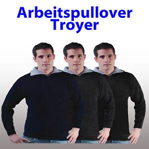 Arbeitspullover Arbeits Troyer marine, schwarz, anthrazit ++ M L XL XXL 50-64 ++