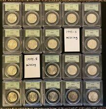 Walking Liberty Half Dollar Short Set (Missing Two Coins) - PCGS MS65