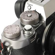 Selens Shutter Button Soft Release Metal Convex Silver Fuji XT4 X-Pro1 X-Pro3