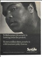 Muhammad Ali 1979 Print Ad ~ SunLife of Canada Knowing You're the Greatest
