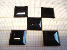 Anello Pietra Onyx quadrato circa 10x10mm, Nero, lucidato (1 pezzi)