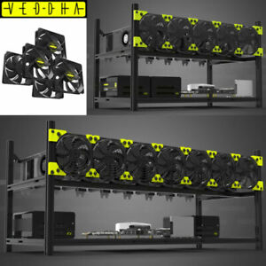 VEDDHA V3 6/8 GPU MINERCASE Aluminum Frame Open Air Mining Rig Stackable BTC ETH