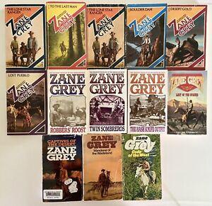 Lot of 13 Zane Grey Western Books, 1965-1998