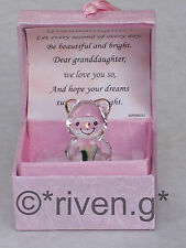 GRANDDAUGHTER@KEEPSAKE @TEDDY Bear@ROSES @SPECIAL verse@22KT Gold@BIRTHDAY Regalo