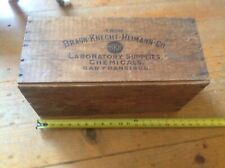 "Vintage Wooden Crate Box BRAUN-KNECHT-HEIMANN-CO. San Francisco 18""X8""X9"""