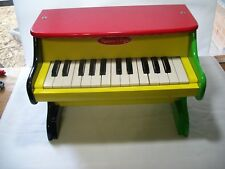 Melissa & Doug Learn to Play Piano Colorful Enameled Wood #1314