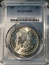 1887 $1 Morgan Dollar PCGS MS65!  38165150