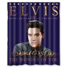New Fabric Bath Curtain Elvis Presley Custom Shower Curtain 60x72 Inch