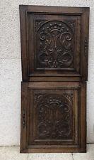 Ancien Élément d'architecture bois matériau PORTE HENRI II Décor sculpté