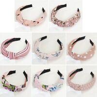 Summer Womens Headband Bowknot Hair Bands Wrap Fabric Headwrap Hair Accessories