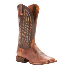 Ariat Men's Circuit Stride Weathered Cowboy Boot - Square Toe Tan 10 EE