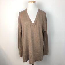 Zara Knit Women's Longsleeve Pullover Brown V-Neck Sweater Size Medium
