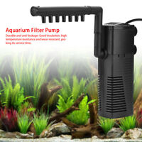 3-in1 Aquarium Internal Filter Oxygen Submersible Pump Water For Fish Tank Pond