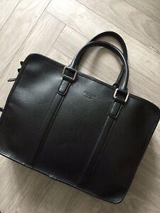£900 Giorgio Armani Black Label Briefcase Laptop Bag in leather great condition