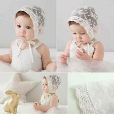 Sweet Toddler Baby Girls Stretchy Lace Hat Bonnet Cap 3-12 Months Flower