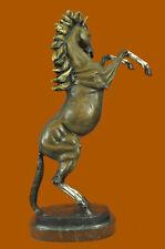 Massive Rearing Horse Animal Stallion Artwork Bronze Sculpture Statue Art Decor