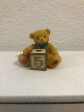 Vintage Cherished Teddies 🧸 Baby Bear With #5 Toy Block 🧸