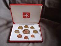2003 Switzerland Euro set 9 coins 1 cent to 5 euro - Essai Pattern Probe boxed