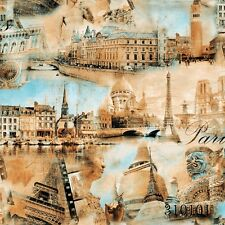 New World Travel India, Paris, Italy, Beige Luxury Wallpaper Design