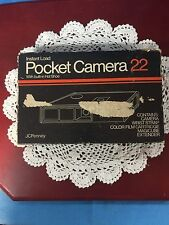 Vintage 1980 JC Penny Camera 22 with Box, Instructions and Magic Cube Extender