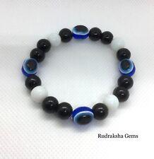 Kabbalah Black elasticated Lucky Bracelet Protection Evil Eye Success Handmade