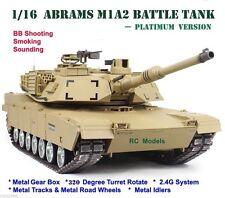 Radio Telecomando RC TANK M1A2 Abrams Heng Long Tank 1/16 grandi -- Platinum