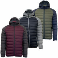 Mens Padded Jacket Brave Soul Quilted Bubble Coat Funnel Neck ZURICH Winter New