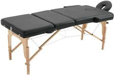"""Portable 84"""" massage table facial spa bed w/ carry case BLACK"""