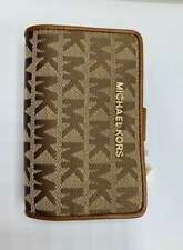 Michael Kors Bifold Wallet Zipper Khaki Brown Signature