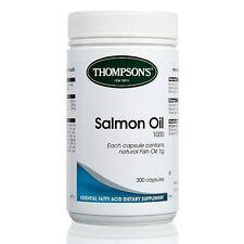 THOMPSON'S - SALMON OIL 1000MG 300C - HIGH QUALITY OMEGA 3 + FREE SHIPPING