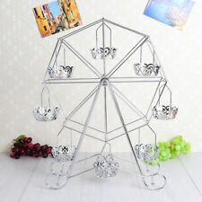 8Cup Ferris Wheel Cake Rack Cupcake Stand Silver Holder for Wedding Birthday DIY