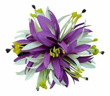 Hawaii Hair Clip Lei Luau Competition Flower Dance Large Spider Lily Purple Whit