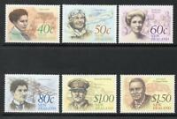 1990 New Zealand~Famous Newzealanders~Unmounted Mint ~Stamp Set~ UK Seller