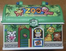2008 Fisher Price Zoo Jungle Little People On The Go Lunch Box/Carrying Case