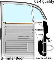 1965-1968 Volkswagen Beetle Sedan LH Inner Door Window Scraper & Whisker 355070