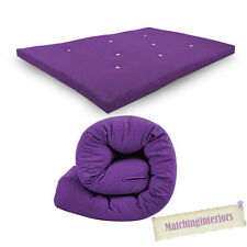 "Purple Budget Large Double Bed 4ft 6"" Futon Sofabed Replacement Folding Mattress"