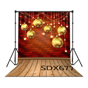 28 Type XMAS Ball Floor 10X10FT CP Vinyl Studio Photography Backdrop Background
