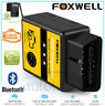 FOXWELL ELM327 OBD2 Bluetooth Car Diagnostic Scanner Tool Android For MAZDA