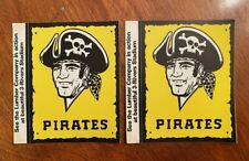 VINTAGE 1972 PITTSBURGH PIRATES TWO (2) TEAM ISSUED LOGO STICKERS - RARE