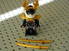 Lego Ninjago - Samurai X minifigure with Gold Katana swords - New Condition !!
