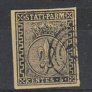 Francobolli Italia Antichi Stati Parma 5 c usato