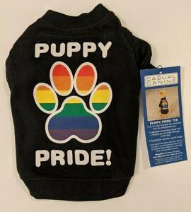 New Clothing for Dog Pet Puppy Pride LGBQT T-Shirt Tshirt T Shirt Rainbow XS