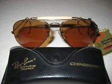 Vintage B&L Ray Ban Chromax Aviator Outdoorsman NEW w/ Tags - Cable Temples B-20