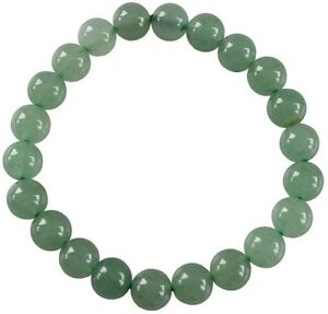 Bracelet Perles Rondes Aventurine Verte - 8 mm