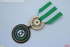 Steampunk Medal pin drape badge brooch Green Lantern Big Bang Theory superhero